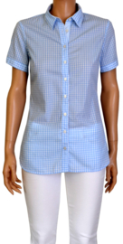Hemd blouse wit-blauw Tommy Hilfiger