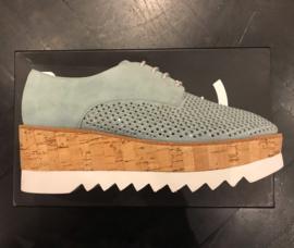 Crinkles geperforeerd sneakers sky blue suede
