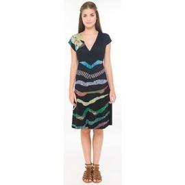 Surkana zwarte jurk with korte mouwen