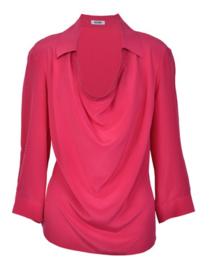 Moschino cheap and chic zijden blouse fuchsia