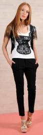 T- shirt online.t shirt met korset van Paola Frani