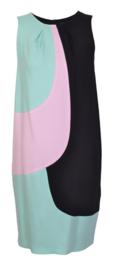 1-One zwarte jurk Mint&Roze