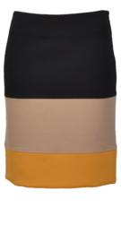 Paola Frani zwart beige geel rok