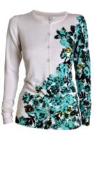 Gigue vest vanille bloemenprint