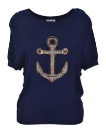 Who*s Who marine blauw tricot trui