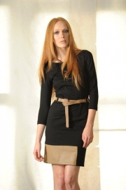 Paola Frani black dress