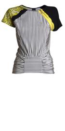 Paola Frani blouse met gele luipaard print