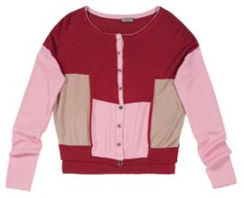 Maliparmi vest rood-roze-beige