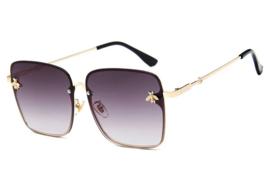 Oversized design zonnebril metalen montuur