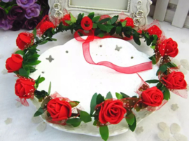 Bloemenkroon rode bloemen
