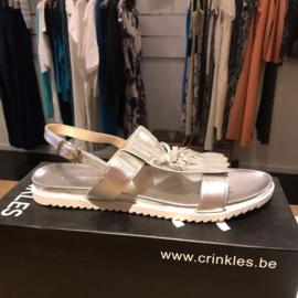 Crinkles  sandaal silver