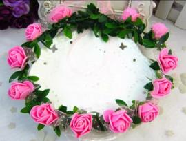 Bloemenkroon roze