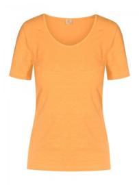 Who's That Girl. Basic oranje T-shirt.