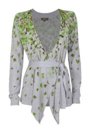 Surkana bloemenprint vest