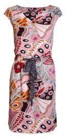 Maliparmi vlinder print jurk