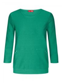 Jacquard sweater groen