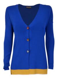 Maliparmi blauw vest met een gele streep