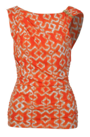 MICHAEL KORS oranje-wit top