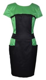 Who*s Who zwart-groen jurk