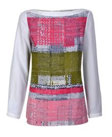 BOSS Hugo Boss ecru blouse met print