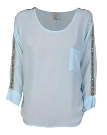 Blue Denim Lodge blouse Agua