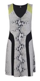 1-One black jurk met dierenprint