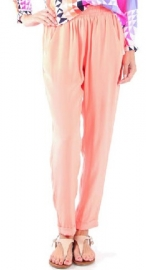 Zijden broek oranje Alice Trixie