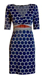 Maliparmi blauwe stippen jurk