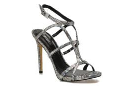 Guess zwart zilver sandaal