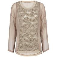 Uldahl zandkleurige blouse