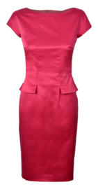 BOSS Hugo Boss fuchsia satijnen jurk