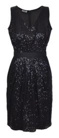 Moschino cheap and chic zwarte jurk met pailletten