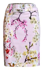 Batida roze rok met bloemen