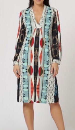 Maliparmi jurk met luxe print