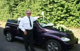 Bruidsauto Gala enzv Paarse PT Cruiser