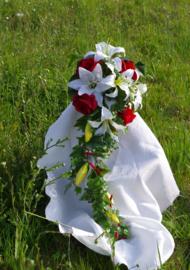 Zijden bruidsboeket 0305