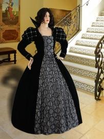 Renaissance jurk silver-rose18