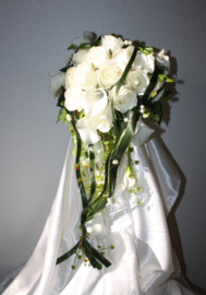 Zijden bruidsboeket 0206