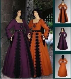 Italiaanse middeleeuwse jurk IM40