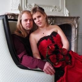 Huwelijk Agnetha en haar man.