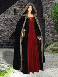 Jurk gothic en cape 56
