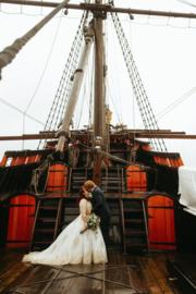 Huwelijk Csilla en haar man.