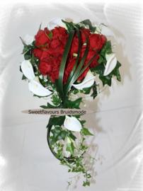 Zijden bruidsboeket 0405