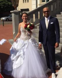 Huwelijk Kimberly en Dimy
