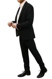 Schitterend 6 delig heren kostuum in zwart of donkerblauw 7146