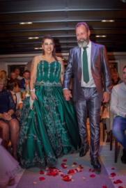 Huwelijk Claudia en haar man.