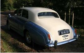 Bruidsauto Blauw-Witte Bentley S1