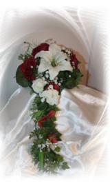 Zijden bruidsboeket 2102