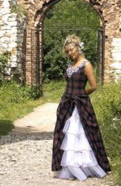 Bruidsjurk Schotse stijl SC10