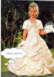 Bruidsmeisje-communie met bolero LM02